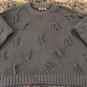 Madewell tassel pullover sweater